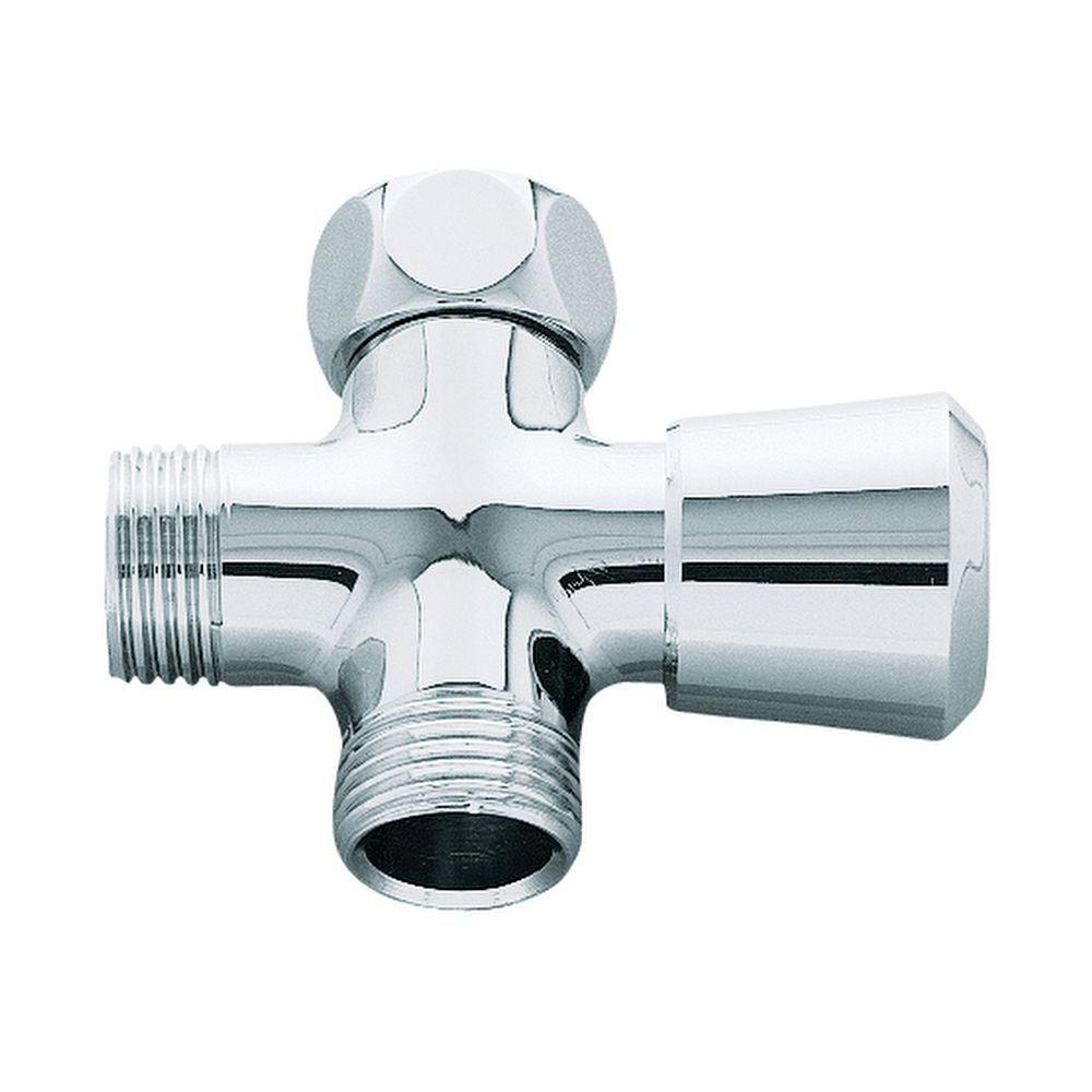Shower Arm Diverter in Starlight Chrome