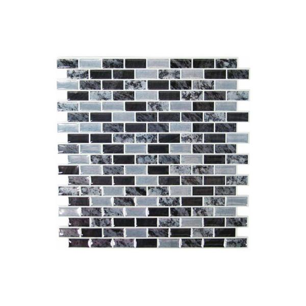 10 5 In W X 10 5 In H Traditional Marble Peel And Stick Decorative Tile Backsplash 4 Pack