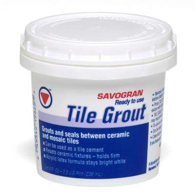 Savogran 12860 .5 Pt White Grout Ready To Use