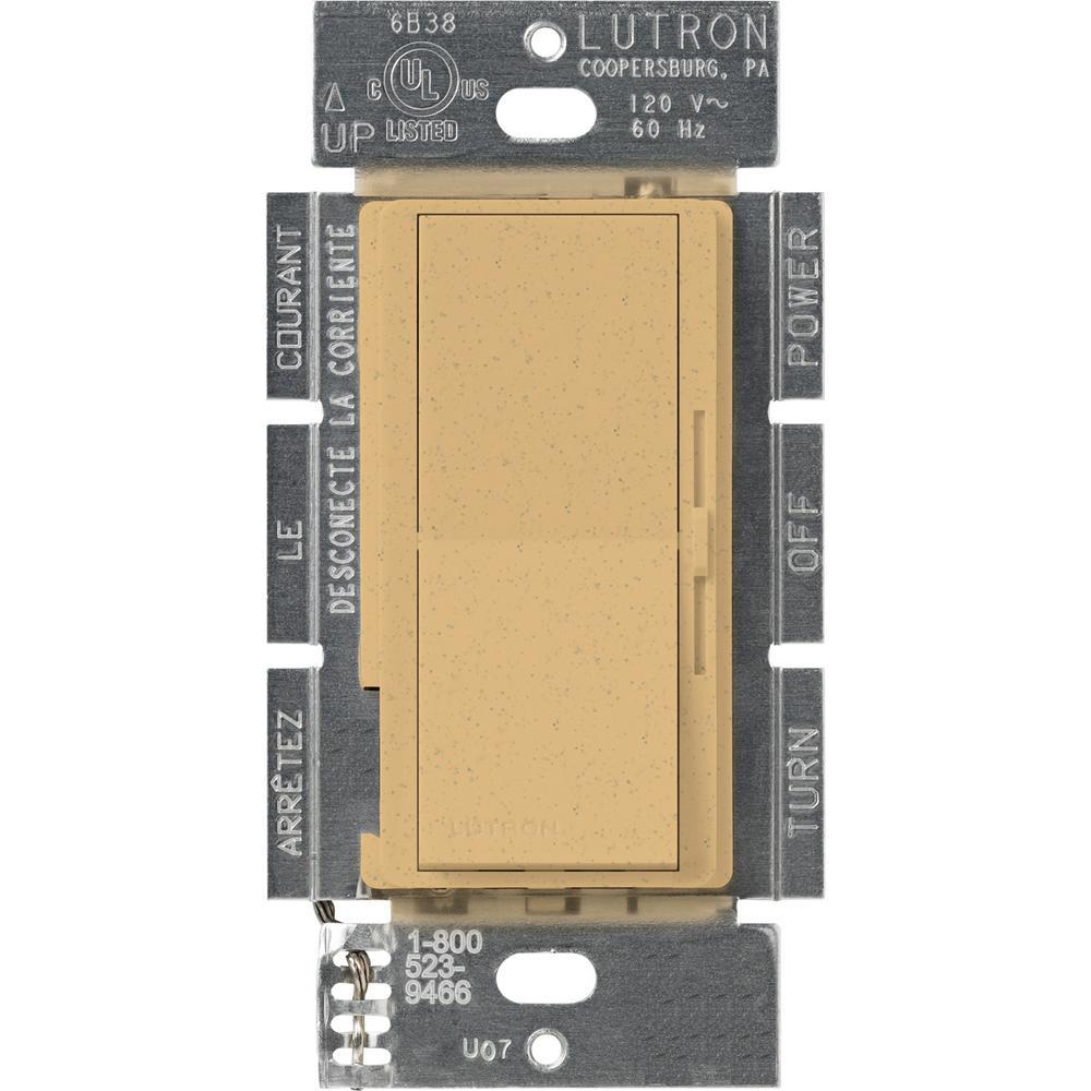Lutron Diva 1.5 Amp Single-Pole/3-Way 3-Speed Fan Control, Goldstone