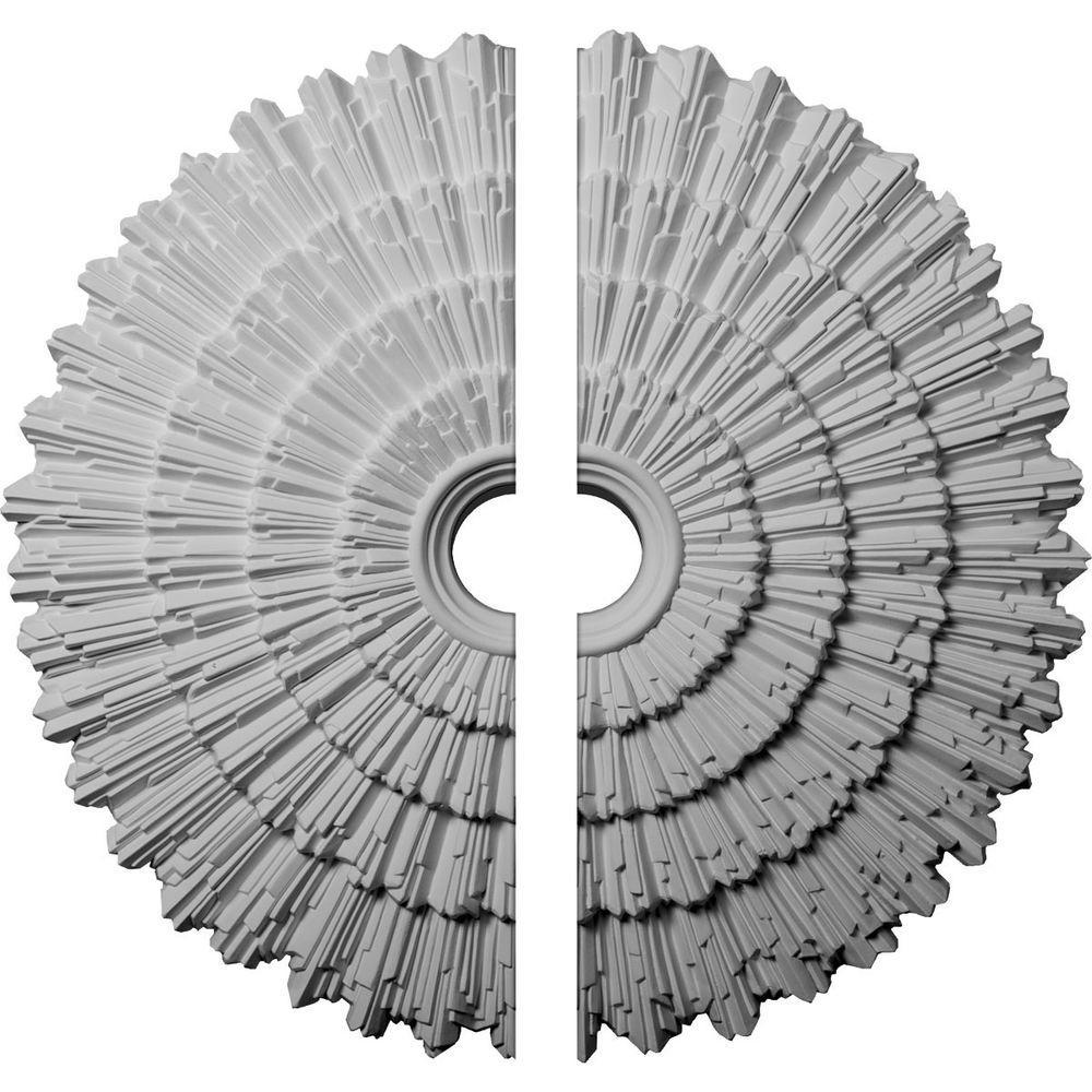 24-3/4 in. O.D. x 3-1/4 in. I.D. x 1-7/8 in. P Eryn Ceiling Medallion (2-Piece)