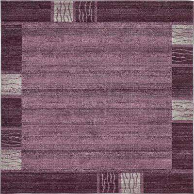 Del Mar Purple 8' x 8' Square Rug