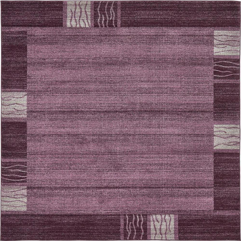 Del Mar Purple 8' x 8' Square Rug