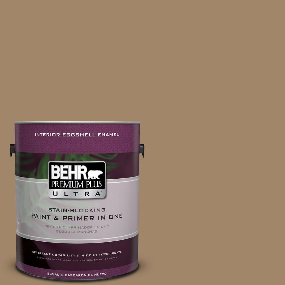 BEHR Premium Plus Ultra Home Decorators Collection 1-gal. #HDC-NT-28 Soft Bronze Eggshell Enamel Interior Paint