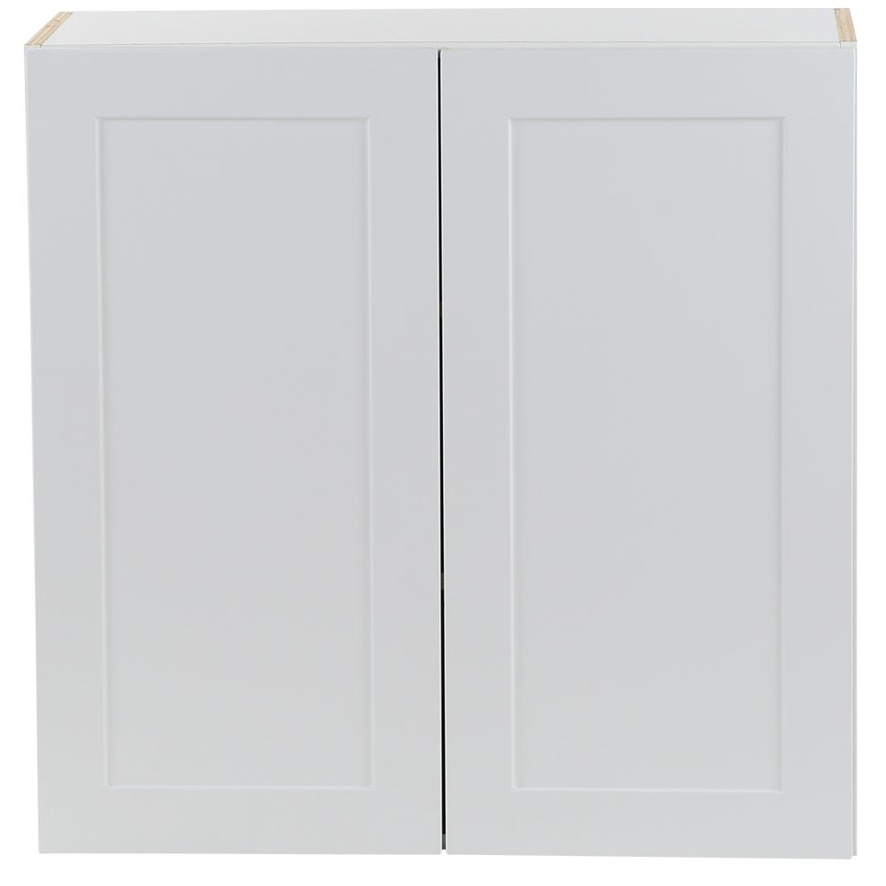 Plywood Wall Cabinet Plan: Hampton Bay Cambridge Assembled 30 In. X 30 In. X 12.5 In