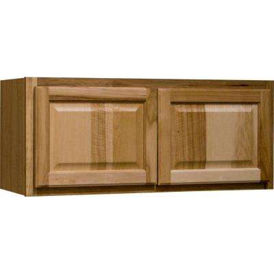 Hampton Assembled 30x12x12 in. Wall Bridge Kitchen Cabinet in Natural Hickory