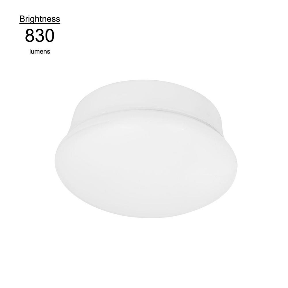 Commercial Electric 7 in. Bright White LED Flushmount Ceiling Light Lampholder Replacement Fixture