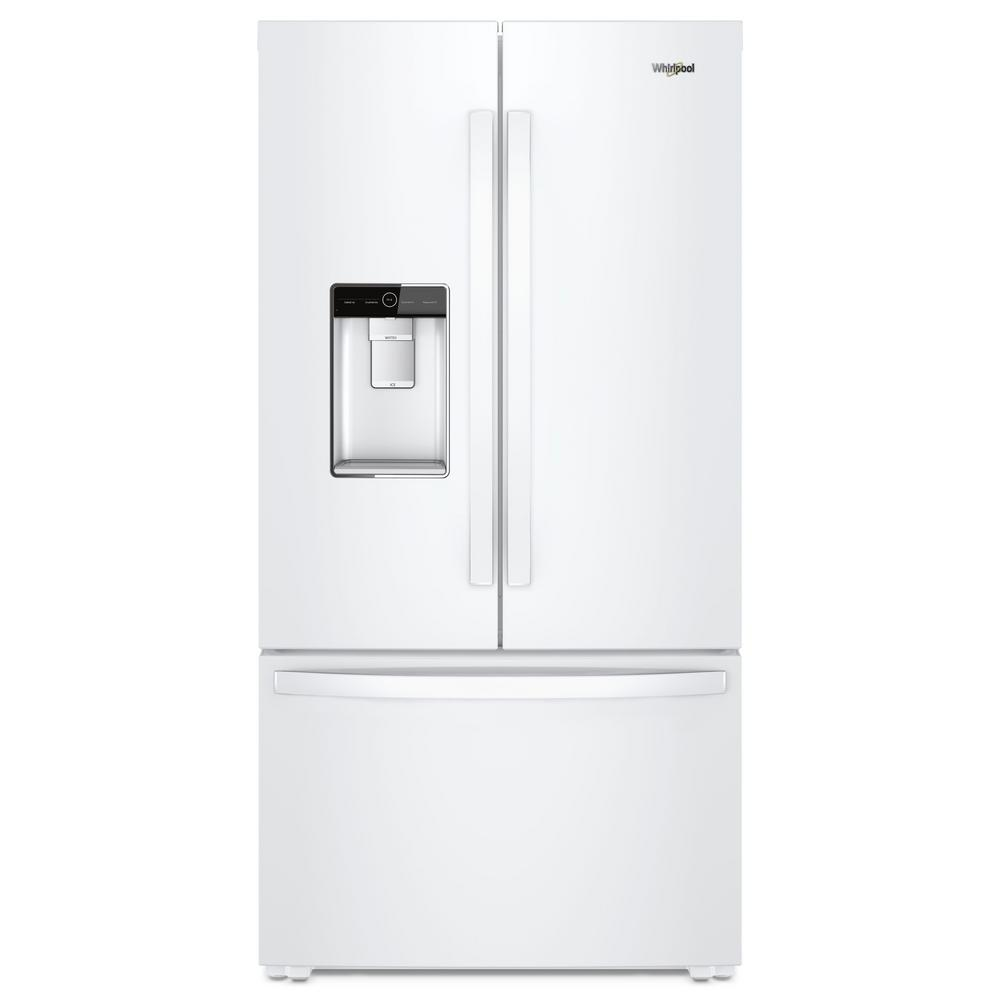Whirlpool 24 Cu Ft French Door Refrigerator In White Counter