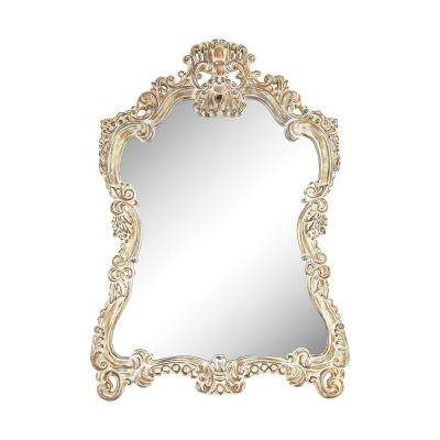 Regence 45 in. x 30 in. Belgian Cream Framed Mirror