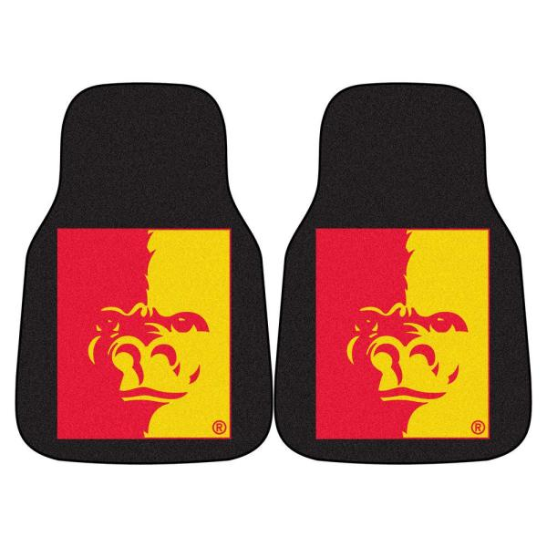 Fanmats Ncaa Pittsburg State University 17 In X 27 In 2 Piece Set Of Carpet Car Mats 5298 The Home Depot