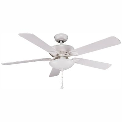 Connor 52 in. Integrated LED Matte White Ceiling Fan with Light Kit