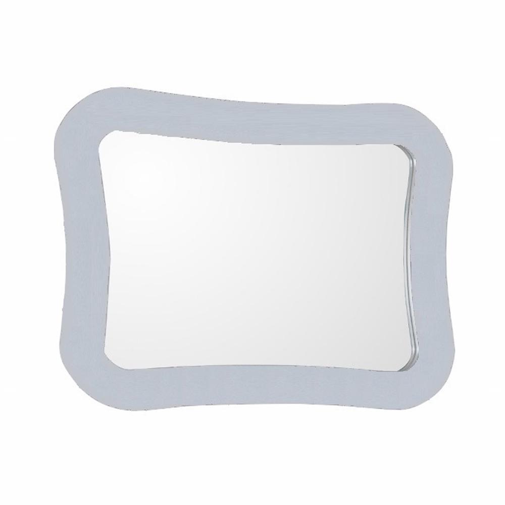 Bellaterra Home Teramo 28 in. x 22 in. Framed Wall Mirror in White