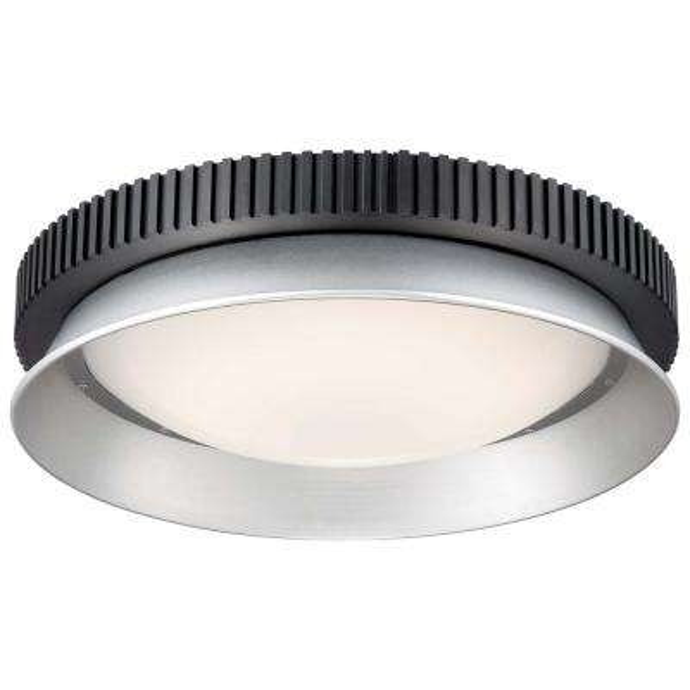 Gizmo 100-Watt Equivalent Black Integrated LED Flush Mount