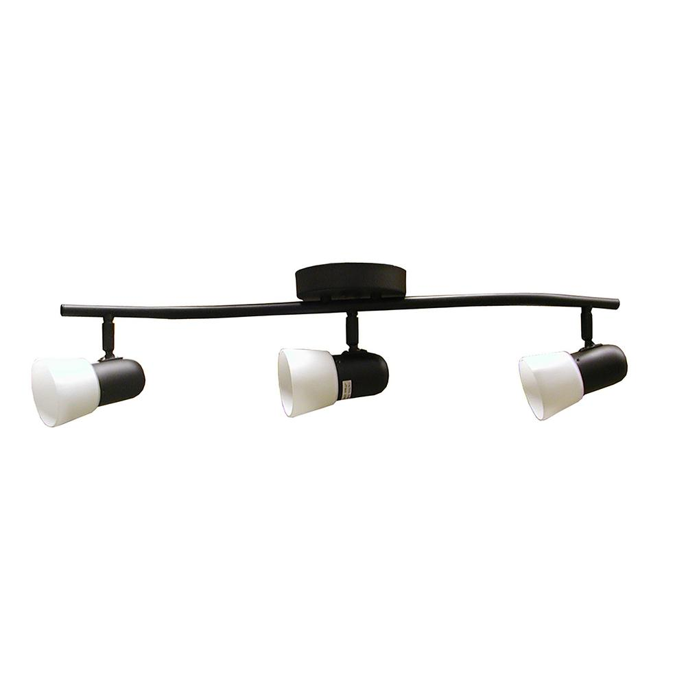 3-Light Ebony Bronze Track Lighting Kit