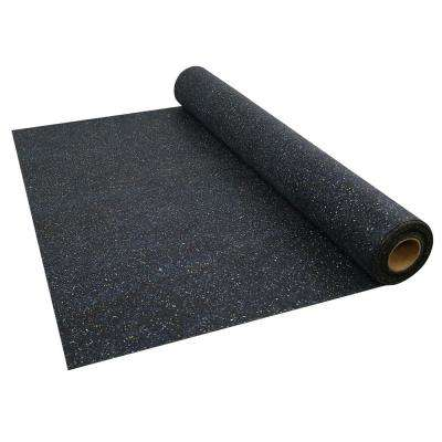 4 ft. x 50 ft. x 0.08 in. Recycled Rubber Underlayment for All Flooring