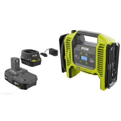 18-Volt ONE+ Lithium-Ion Cordless Dual Function Inflator/Deflator with 1.5 Ah Battery and 18-Volt Charger