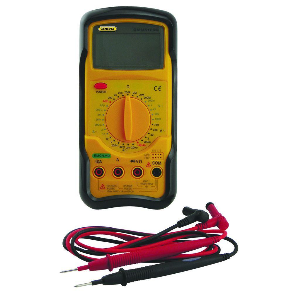 General Tools Digital Service Multimeter with Micro-Amp Ranges