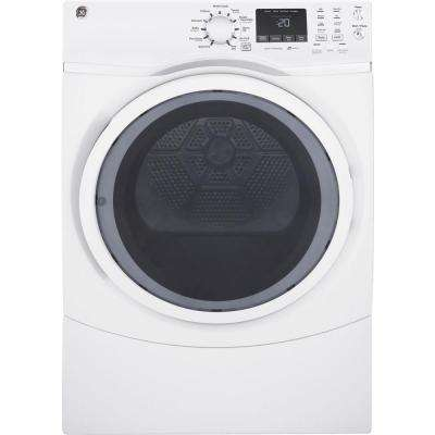 7.5 cu. ft. 120 Volt White Stackable Gas Vented Dryer with Steam