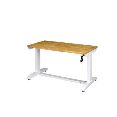 46 in. Adjustable Height Work Table in White