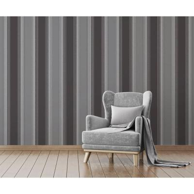 Stefano Black Stripe Wallpaper