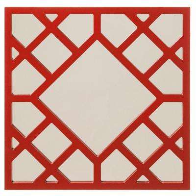 24 in. x 24 in. Cutwork Framed Mirror