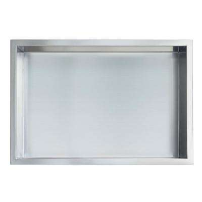 Showroom Series 12 in. x 18 in. Stainless Steel Shower Niche in Brushed Chrome