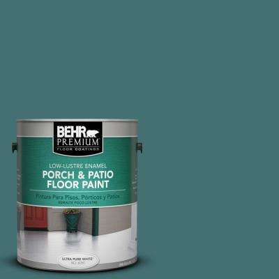 1 gal. #S440-6 Tealish Low-Lustre Porch and Patio Floor Paint