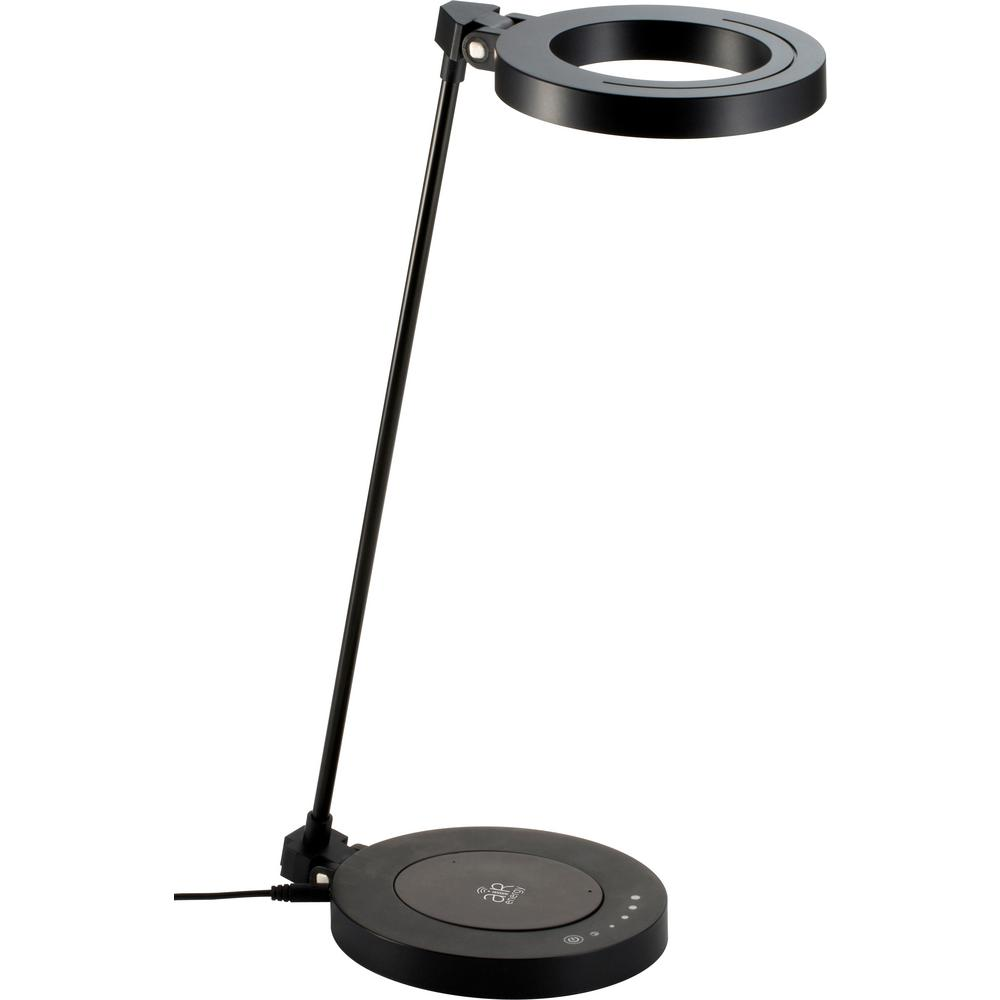 LED Touch Dimmer Black Desk Lamp With WPC Qi Certified Wireless