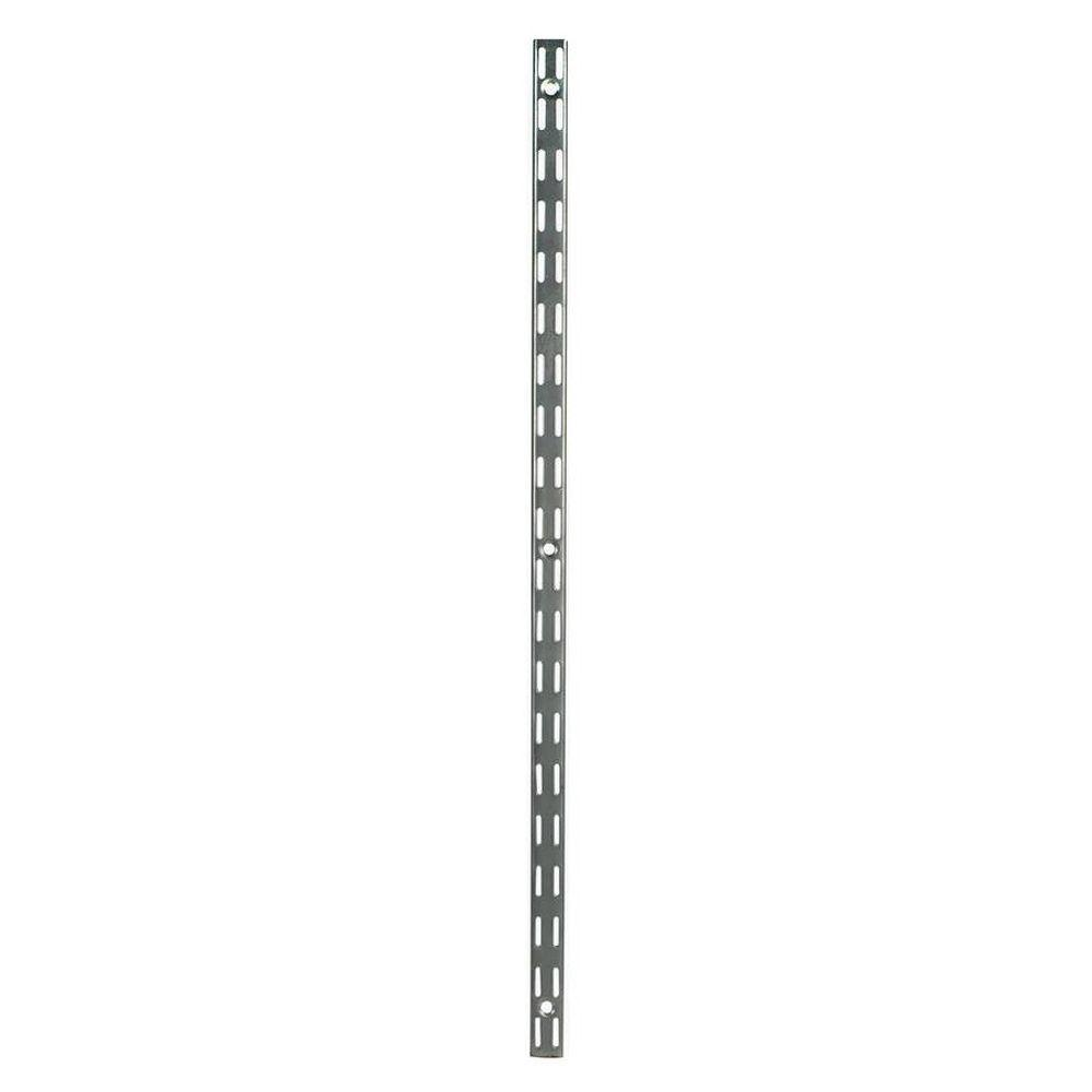 Rubbermaid 70 in. Satin Nickel Twin Track Upright for Wood or Wire ...