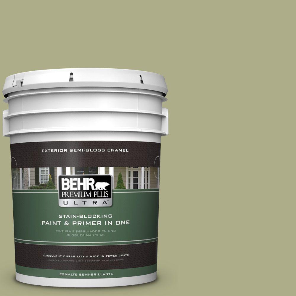 BEHR Premium Plus Ultra 5-gal. #PPU9-21 Sanctuary Semi-Gloss Enamel Exterior Paint