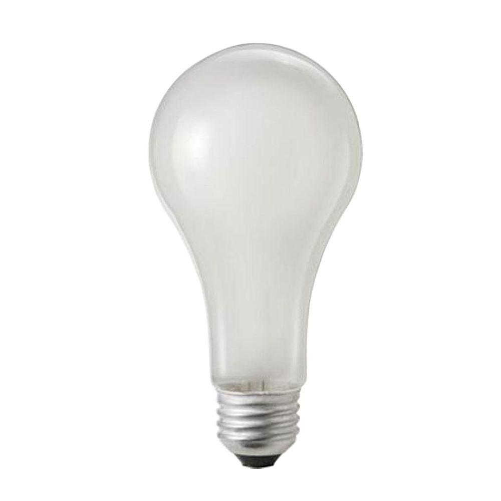 150-Watt A21 Incandescent 120-130-Volt Rough Service Frosted Light Bulb (60-Pack)