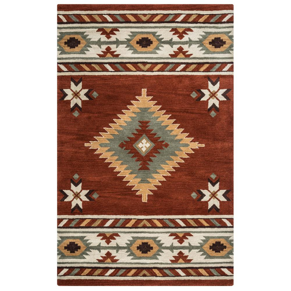 Rizzy Home Southwest Rust 8 Ft X Round Area Rug