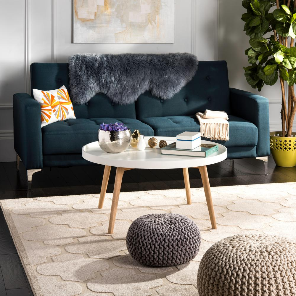 Safavieh Rue Round White Coffee Table-FOX8207A - The Home Depot