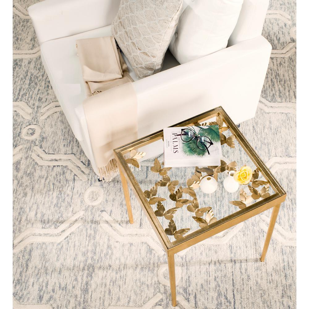 Rosalie Antique Gold Leaf Side Table