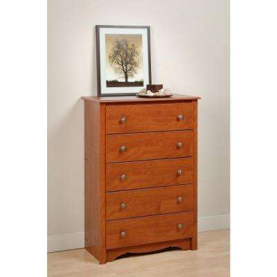 Monterey 5-Drawer Cherry Chest
