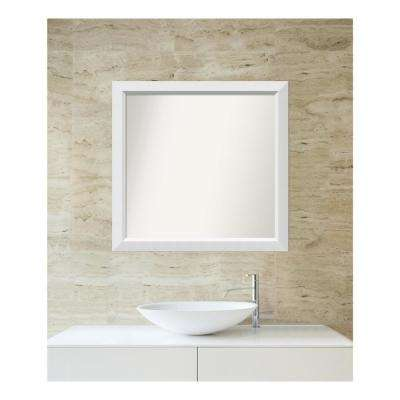 Choose Your Custom Size 29 in. x 30 in. Blanco White Wood Framed Mirror