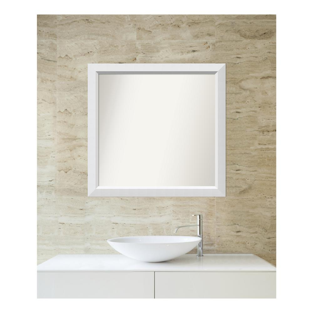 Amanti Art Choose Your Custom Size 29 in. x 30 in. Blanco White Wood Framed Mirror was $307.38 now $139.92 (54.0% off)