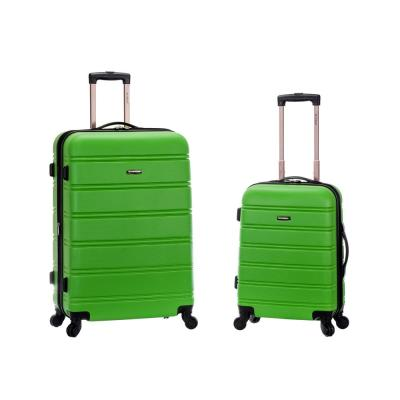 Rockland Melbourne Expandable 2-Piece Hardside Spinner Luggage Set, Green