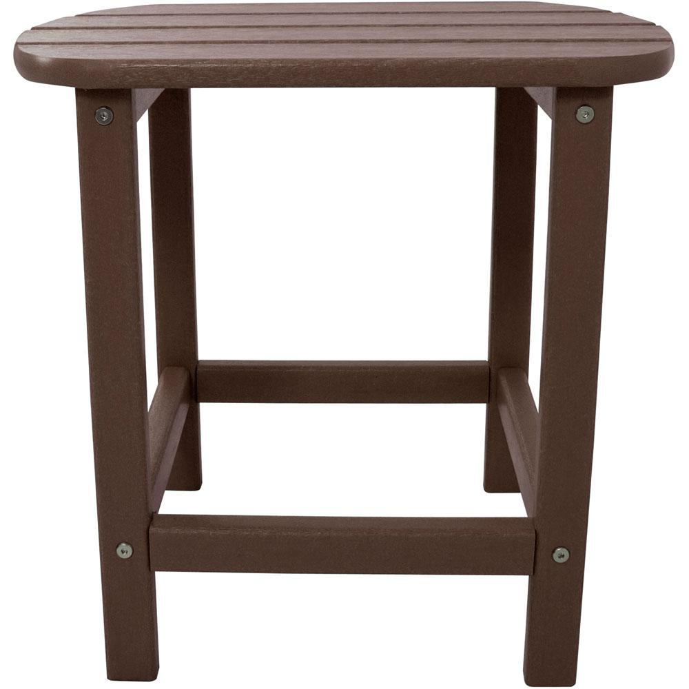 Mahogany All Weather Patio Side Table