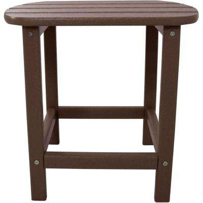 Mahogany All-Weather Patio Side Table