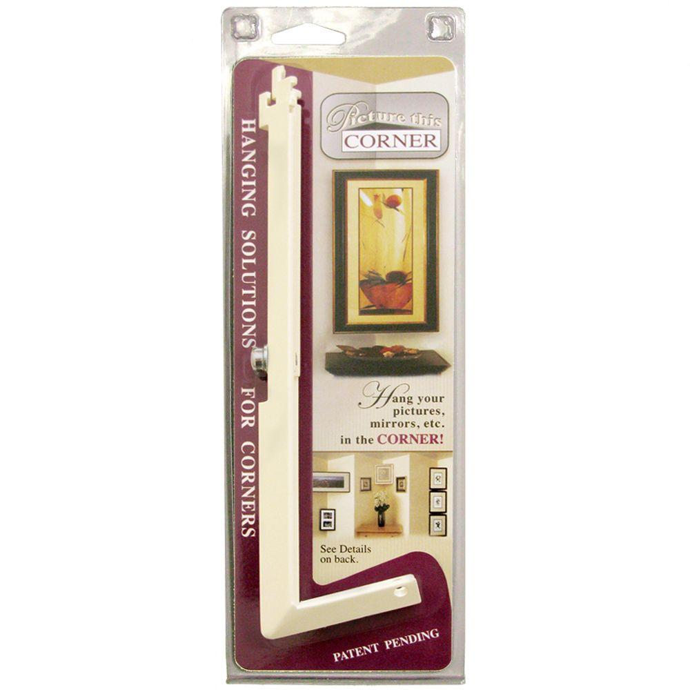Picture This Corner Large Corner Hanger - Adjustable for Standard Frame Sizes from 16 in. to 24 in. W