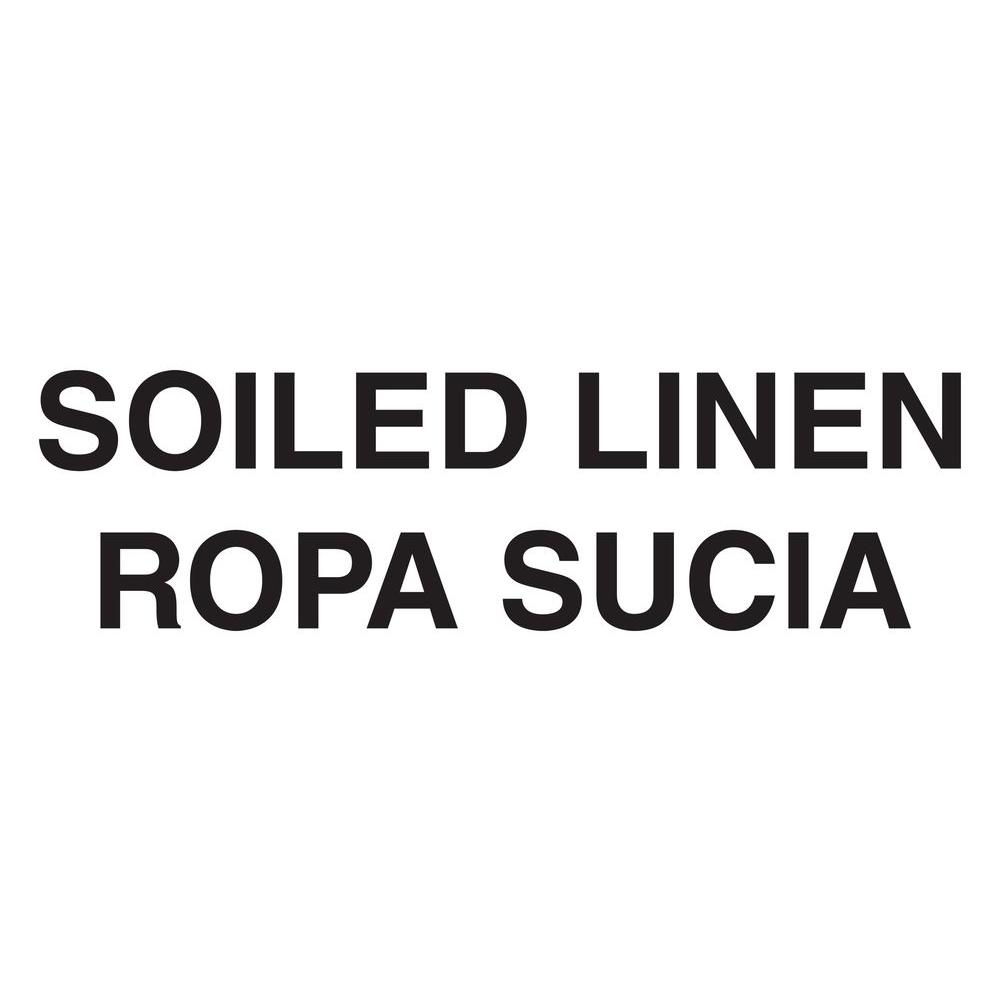 Rubbermaid Commercial Products Bilingual Soiled Linen Decal