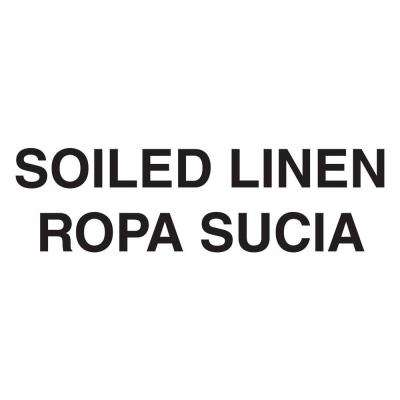 Bilingual Soiled Linen Decal