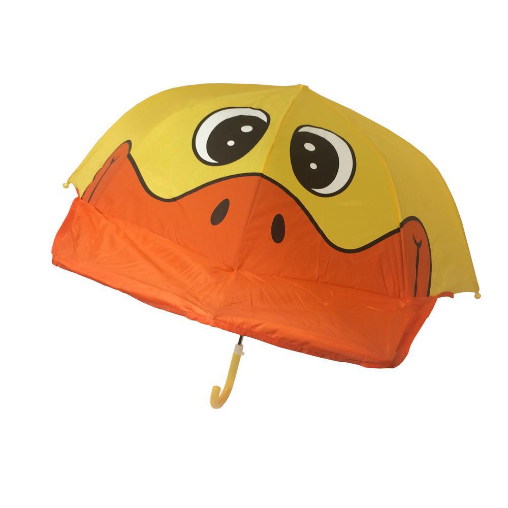 Kingstate 38 in. Arc Childrens Animal Head Umbrella in Duck