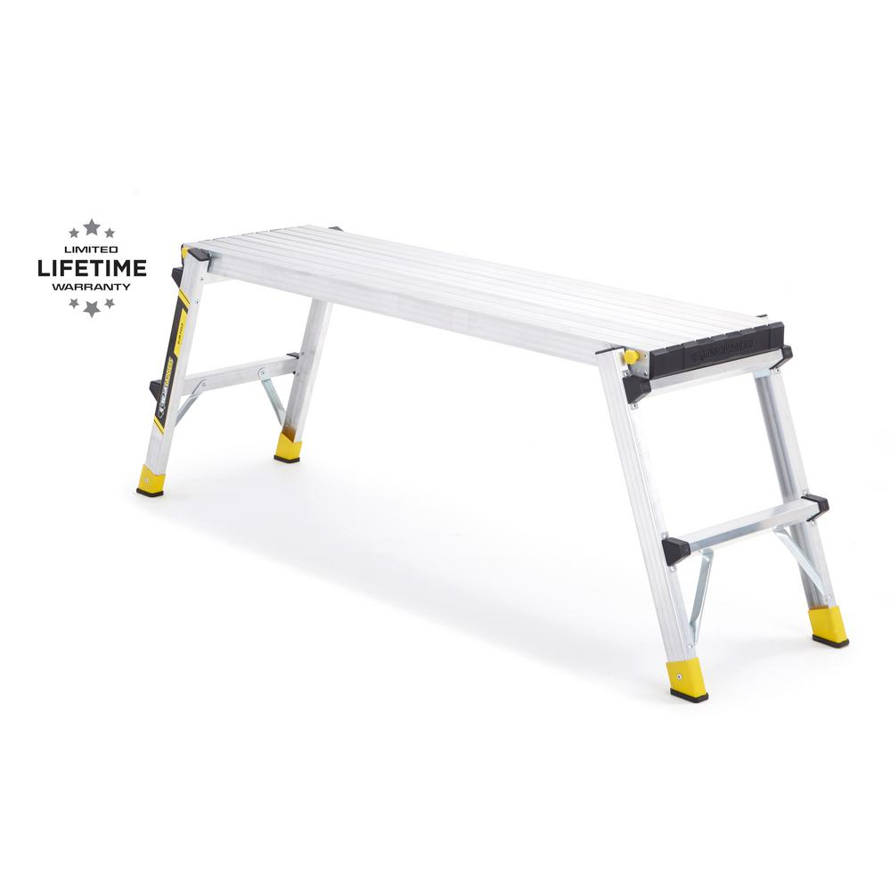Gorilla Ladders 47 in. x 12 in. x 20 in. Aluminum Slim-Fold Work Platform with 250 lb. Load Capacity