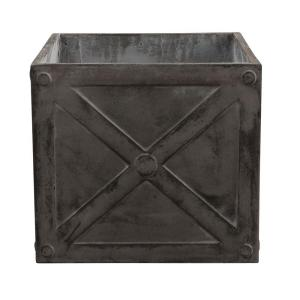 Home Decorators Collection 21.5 inch W Fiberglass Resin Napoli Graphite Cube Planter by Home Decorators Collection