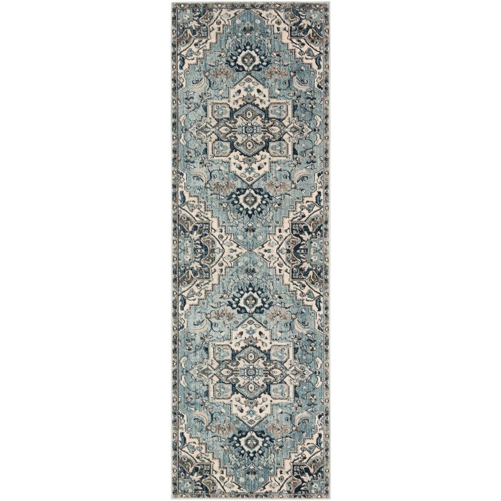 Artistic Weavers Cairo Teal Ivory 2 Ft 6 In X 7 Ft 10