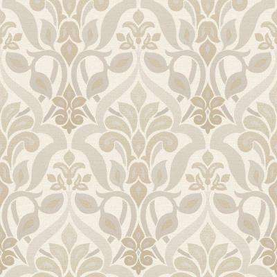 Fusion Grey Ombre Damask Wallpaper