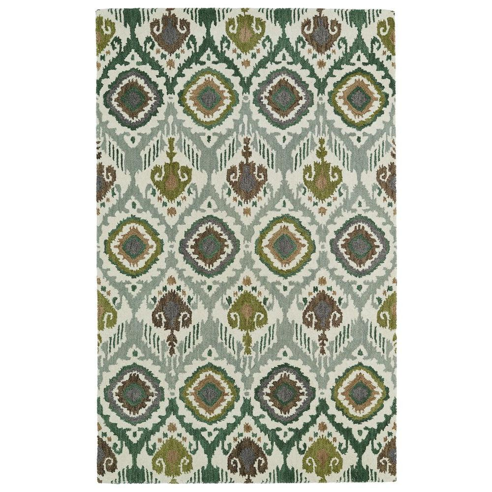 Kaleen Global Inspiration Green 5 ft. x 7 ft. 9 in. Area Rug