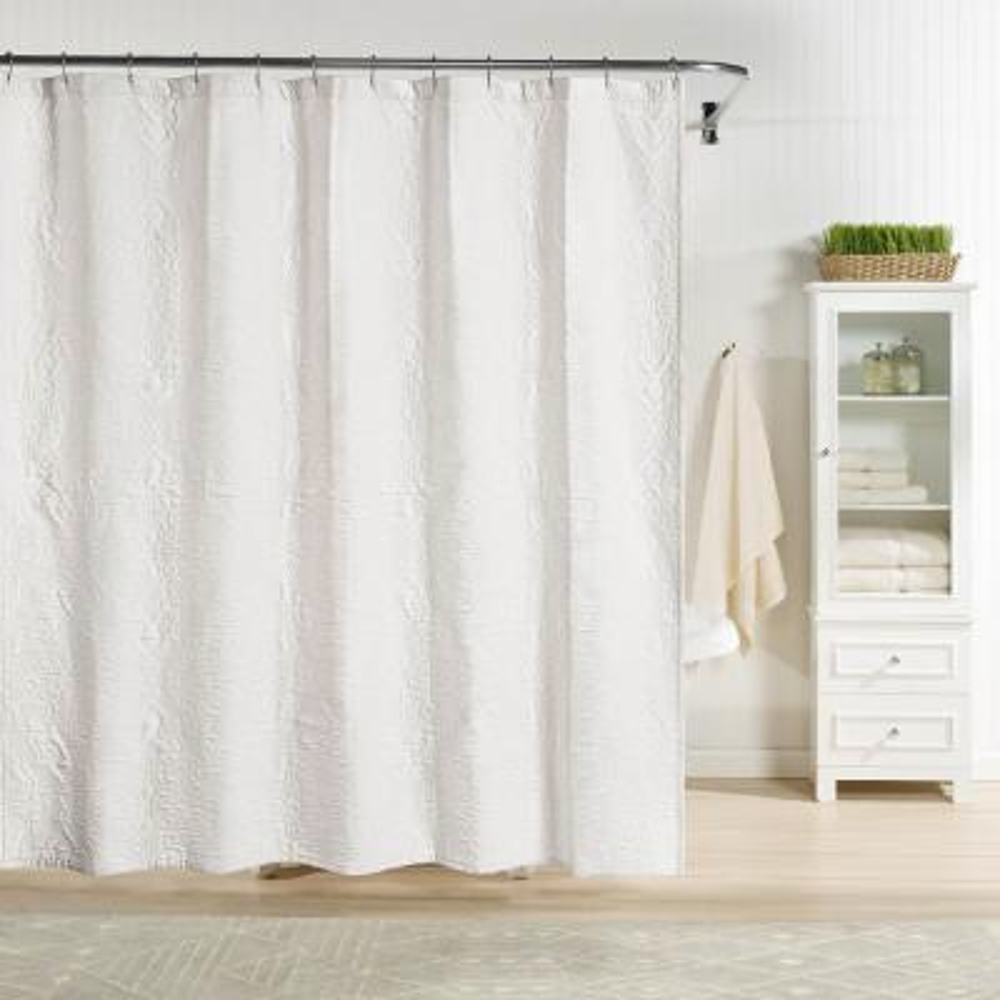 Raphaela Shower Curtain White